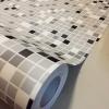 "Wallpaper Sticker วอลล์เปเปอร์แบบมีกาวในตัว ""โมเสคสีเทาดำขาว"" หน้ากว้าง 1.22m ตัดขายตามความยาว เมตรละ 250 บาท"