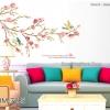 """สติ๊กเกอร์ติดผนังลายกิ่งไม้ """"Painting Cherry Blossom""""ความสูง 85 cm ความกว้าง 140 cm"""