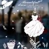 """สติ๊กเกอร์ติดกระจกสำหรับตกแต่งร้านค้า """"Beautiful Dress"""" ความสูง 74 cm กว้าง 102 cm"""