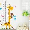 """สติ๊กเกอร์ติดผนัง สำหรับห้องเด็ก """"Height Scale Giraffe"""" สเกลเริ่มต้น 20 cm ถึง 180 cm"""