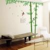 """สติ๊กเกอร์ติดผนัง ตกแต่งบ้าน Wall Sticker ขนาดใหญ่ """"ต้นไม้ใหญ่ ไผ่เขียว Bamboo"""" ความสูง 250 cm กว้าง 230 cm"""