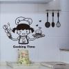 """สติ๊กเกอร์ติดผนังตกแต่งห้องครัว """"Cooking Time"""" ขนาดความสูง 40 cm กว้าง 30 cm"""
