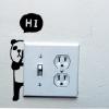 """สติ๊กเกอร์ติดปลั๊กไฟ """"Hi Panda ซ้าย""""ขนาดซองบรรจุ 15 x 12 cm"""
