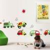 """สติ๊กเกอร์ติดผนัง ห้องเด็ก """"Cute Traffic รถยนต์"""" ความสูง 50 cm กว้าง 140 cm"""