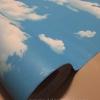 "Wallpaper Sticker วอลล์เปเปอร์มีกาวในตัว ""ท้องฟ้าและกลุ่มเมฆ"" หน้ากว้าง 1.22m ตัดขายตามความยาว เมตรละ 250 บาท"