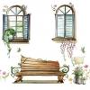 """สติ๊กเกอร์ตกแต่งผนังหน้าต่าง """"Window and Chair"""" ความสูง 80 cm กว้าง 100 cm"""
