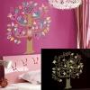"""สติ๊กเกอร์เรืองแสงตกแต่งห้องเด็ก """"Colorful Bird Tree"""" ความสูง 85 cm กว้าง 75 cm"""