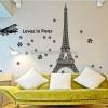 """สติ๊กเกอร์ตกแต่งผนังเมืองท่องเที่ยว """"Love Paris"""" ความสูง 130 cm กว้าง 190 cm"""