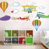 """สติ๊กเกอร์ติดผนัง สำหรับห้องเด็ก """"Balloon and jetplane"""""""