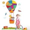 """สติ๊กเกอร์ติดผนังตกแต่งบ้าน """"บอลลูน Cute Fire Balloon"""" ความสูง 160 cm ยาว 120 cm"""