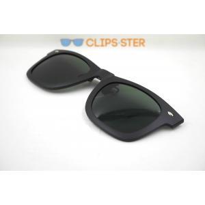 คลิปออนกันแดด Clipsster รุ่น Wayster C กรอบดำเลนส์เขียว