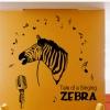 """สติ๊กเกอร์ติดผนังตกแต่งบ้าน """"ม้าลาย Singing Zebra"""" ความสูง 105 cm กว้าง 128 cm"""
