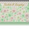 backdrop ดอกไม้กระดาษขาว เขียว สำหรับจัดฉากงานแต่งงานขนาด 2.4*4.8