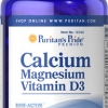 เสริมสร้างกระดูกและฟัน ให้แข็งแรง Puritan's Pride Calcium Magnesium with Vitamin D ขนาด 120 Caplets