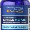 ชะลอความแก่ ปรับสมดุลร่างกาย Puritan's Pride DHEA 50 mg ขนาด 100 เม็ด