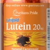 ช่วยการมองเห็น Puritan's Pride Lutein 20 mg with Zeaxanthin / 120 softgels