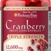 บรรเทาอาการในสตรี Triple Strength Cranberry Fruit Concentrate 12,600 mg / 100 sofgels