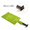 แผ่นชาร์จไร้สาย Qi หัว Micro USB