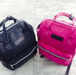 กระเป๋าเป้3411(สีดำ+สีชมพู)