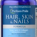 บำรุงผม เล็บ ผิว Puritan's Pride Hair, Skin & Nails Formula 120 เม็ด