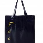 กระเป๋าหนังแก้วใบใหญ่สีดำ