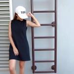 เดรสคอเต่า Zara Basic Dress ดำ เทา