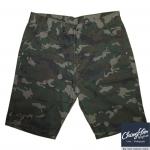 """[ลดราคา] กางเกงผู้ชายอ้วน ขาสั้น ลายทหาร เอว 30-50"""" (Brown)"""