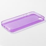 เคส iPhone 5/5S ซิลิโคนใส หนา 0.6 มม. สีม่วง