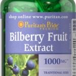 อาหารเสริมบำรุงสายตา Puritan's Pride Bilberry 1000 mg.ขนาดสุดคุ้ม 180 softgels