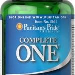 วิตามินรวม Puritan's Pride One Multivitamins Timed Release ขนาด 60 Caplets