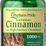 อบเชย บรรเทาเบาหวาน Cinnamon Complex with High Potency Chromium / 60 Capsules