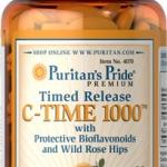 ผิวสวยใส เพิ่มภูมิต้านทาน Puritan's Pride Vitamin C-1000 mg Time Release ขนาด 60 Caplets