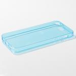 เคส iPhone 5/5S ซิลิโคนใส หนา 0.6 มม. สีฟ้า