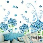 """สินค้าล้างสต็อก ลดราคา 50% """"Sky Blue Flora"""" ความสูง 85 cm กว้าง 120 cm"""