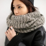 PRE Knit Ring Korean Scarf