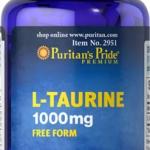 ช่วยอินซูลิน Puritan's Pride L-Taurine 1000 mg ขนาด 50 เม็ด