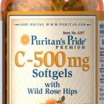 Puritan's Pride Vitamin C-500 mg with Bioflavonoids & Rose Hips ขนาด 250 Softgels