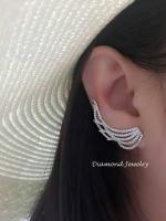 พร้อมส่ง Diamond Earring งานเพชร CZ แท้ ดีไซส์งานเกี่ยวอ้อมหู งานสวยมากกกก งานสวยมว้ากกกกกถึงมากที่สุดคะ รุ่นนี้แนะนำเลยค่ะ ใส่ออกดูมีราคา