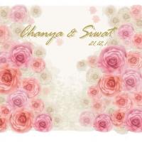 backdrop ดอกไม้กระดาษงานแต่งงาน ให้เช่า
