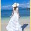 ชุดเดรส ริมทะเลโบฮีเมียน ผอมบาง organza ชุดแขนกุด ชุดยาวชุด ชายหาดฤดูร้อน thumbnail 2