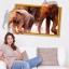 """สติ๊กเกอร์ติดผนังตกแต่งบ้าน 3D """"ช้าง Elephants"""" ความกว้าง 87 cm สูง 57 cm thumbnail 2"""