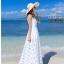 ชุดเดรส ริมทะเลโบฮีเมียน ผอมบาง organza ชุดแขนกุด ชุดยาวชุด ชายหาดฤดูร้อน thumbnail 3