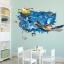 """สติ๊กเกอร์ติดผนัง 3D """"เต่าทะเล"""" ความสูง 70 cm กว้าง 110 cm thumbnail 5"""