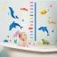 """สติ๊กเกอร์ติดผนังตกแต่งห้องเด็ก ที่วัดส่วนสูง """"Cute dolphin and Growth Chart"""" สเกลเริ่มต้น 60cm ถึง 180 cm thumbnail 2"""