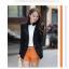 เวอร์ชั่นเกาหลี เสื้อแจ็คเก็ต ซิป แขนยาว สีดำ เสื้อคลุม thumbnail 1