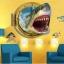 """สติ๊กเกอร์ติดผนัง 3D """"Shark"""" ความสูง 67 cm กว้าง 87 cm thumbnail 4"""