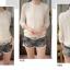 เสื้้อแขนสามส่วน สีขาวลูกไม้เย็บแต่งซีฟอง thumbnail 3