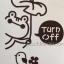 """สติ๊กเกอร์ติดปลั๊กไฟ """"กบกับนก Turn Off"""" ขนาดซองบรรจุ 15 x 12 cm thumbnail 2"""