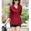 แจ็คเก็ตเสื้อกันลม เสื้อคลุม สีแดง thumbnail 6