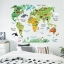 """สติ๊กเกอร์ติดผนังตกแต่งบ้าน """"แผนที่ Animal World Map"""" ความสูง 73 cm กว้าง 95 cm thumbnail 2"""